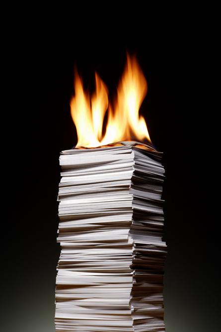 papier in brand - zzpnieuws-nl